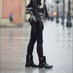 ANNE KLEIN • Akleyna Lawless Moto Boots Sz 7.5
